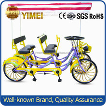 Best selling tandem bike four seat bicycle / 4 person surrey bike