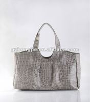 2013 popular snake and stone patten leather bag