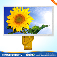 Hot selling 50 pin 7 inch 800*480 industrial lcd touch screen monitor