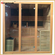 Luxury Wood Steam Sauna Room Combination With LED Star Lights