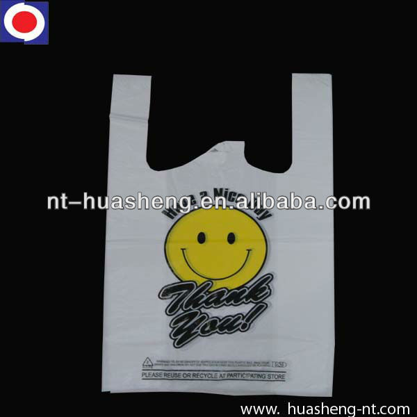 HDPE custom shopping bags