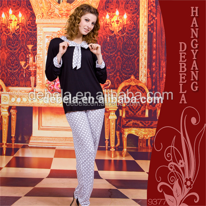 New coming winter fat mature nightgown pajamas women home sleepwear