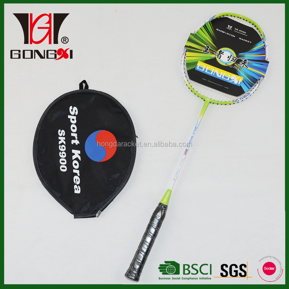 GX-88A GREEN good design aluminium&fiberglass carbon fiber badminton racket/oem badminton racket/racquet