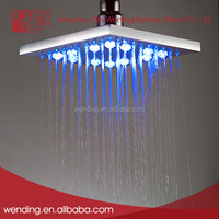 One function square led rainfall led shower head