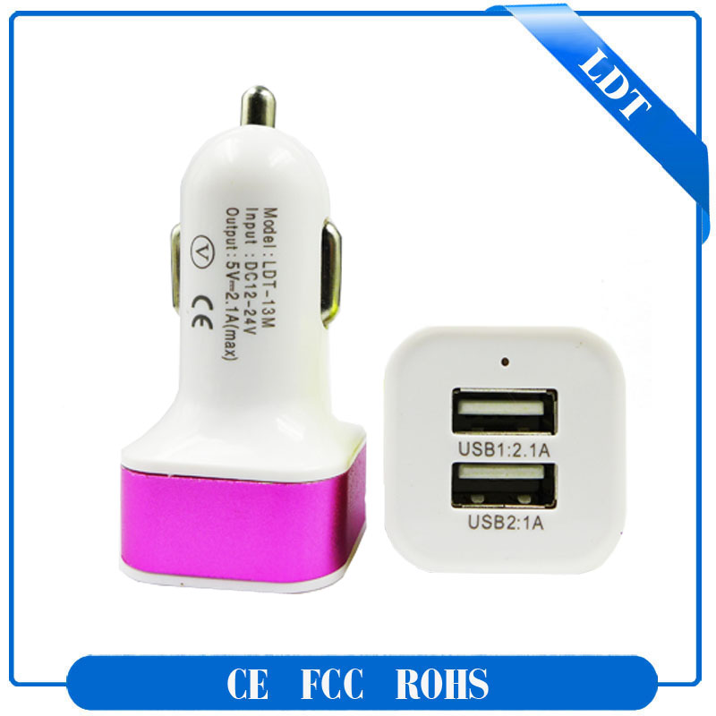 china factory supplier universal dual usb car charger for mp3 player