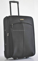 600D polyester soft luggage/ trolley case with 2 wheels/ upright with steel trolley system/ cheap carry on with 20'/24'/28'