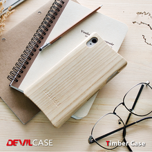 [DEVILCASE] One Piece 100% Wooden Cellular Phone Bumper Hard Case for SONY Z3 Smart Hand Phone