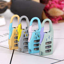 Mix Colors Three Coded Lock Metal Zinc Alloy Cheap Combination Lock 3 Digitals Padlock