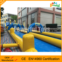 50m inflatable slip and slide giant inflatable city slide for water games