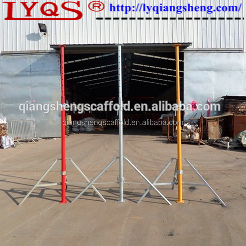 Adjustable Steel Post Shores : Used scaffolding props adjustable steel post shores for