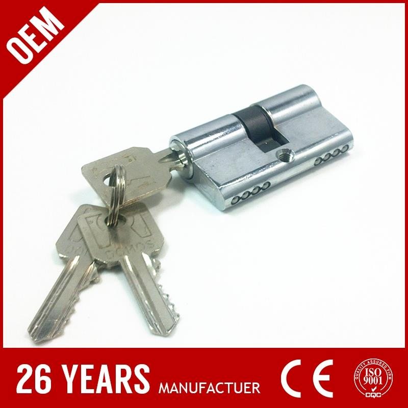 OEM stainless steel chrome plate lock cylinder plastic cover with nickel plate