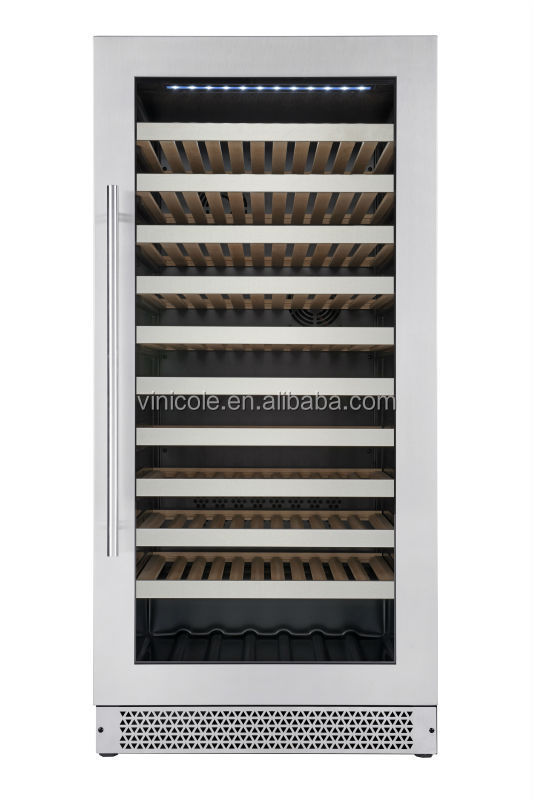 2016 122 bottles compressor capacity barrel wine cooler/wine refrigerator/wine cabine