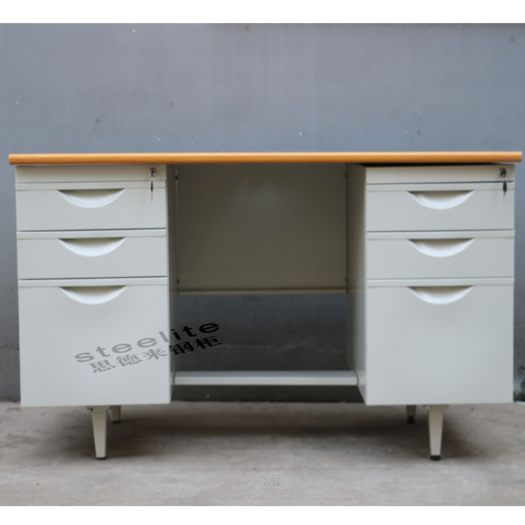 Wholesale price China sale office furniture in penang steel office desk with locking drawers