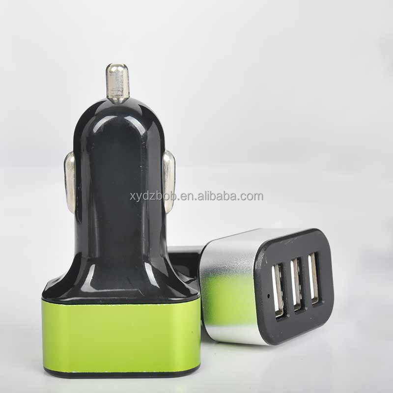 3 usb port 12V car battery charger for Mobile phone 5V2.1A