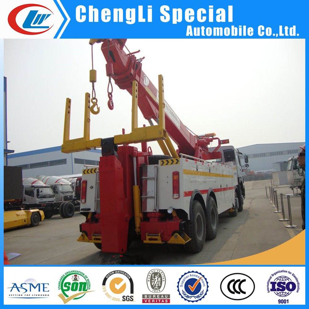 40t recovery wrecker towing equipment heavy duty 50t rotator recovery truck for sale