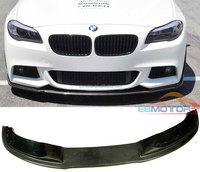 New H Styling Real Carbon Fiber Front Lip Spoiler For BMW F10 M Sport Mtech Bumper 2012UP B250