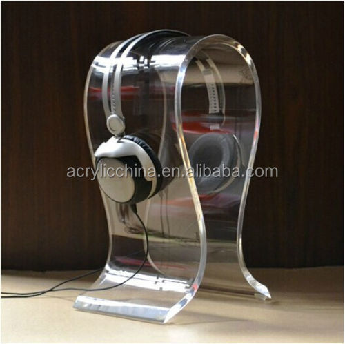8mm Clear Acrylic Headphones Stand Headset Holder Earphone Display Rack General