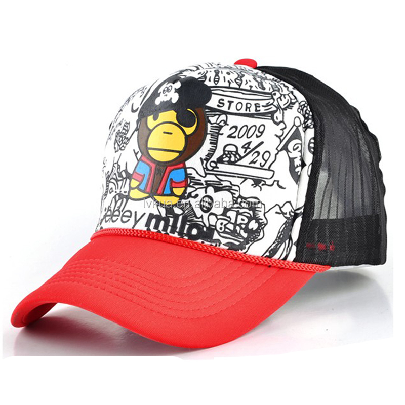 OEM Promotional Wholesale Cheap Printed Mesh Snapback Caps Made in China