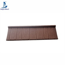 Roof tile price list impervious Terracotta Red warehouse Stone Coated Steel Roofing Tile