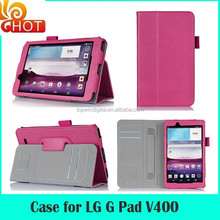 Wholesale Tablet Flip Leather Cases For LG G Pad 7 Covers With Hand Holder In Stock