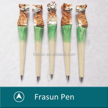promotional various style Personalized cute catroon hand carved wooden animal pens