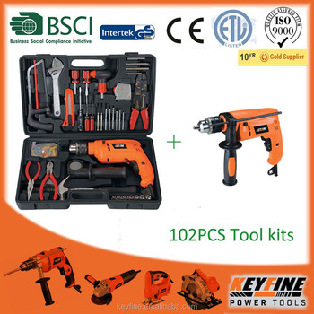 102PCS Tool kits hot selling in Asia market with cheaper drill machine