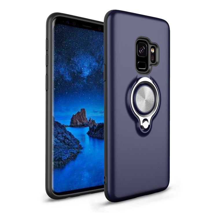 Dual Layer Shockproof Protection Case with 360 Degree Rotating Finger Ring Holder and Magnet Car Holder for Samsung S9 case