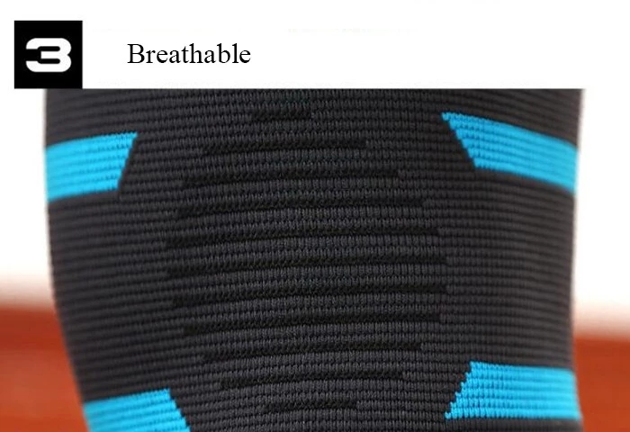 Protective Non-slip adjustable Elasticity Breathable Knee Support Brace with Silicone Dots
