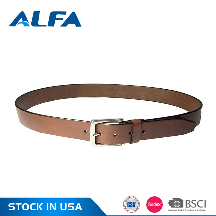 Alfa Buy Chinese Products Online Genuine Leather Belt Man'S Pin Buckle Blets