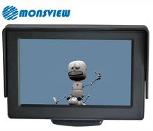 Car backup system 4.3 inch lcd monitor with rca input