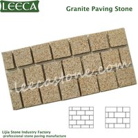 Rectangle granite natural paving stone granite pavers for sale