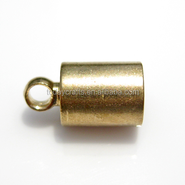 Wholesale metal jewelry end caps for jewelry with hook for leather cord
