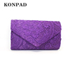KW0123 Konpad Evening Clutch Fashion Road Womens Lace Floral Envelope Clutch Purses For Wedding And Party