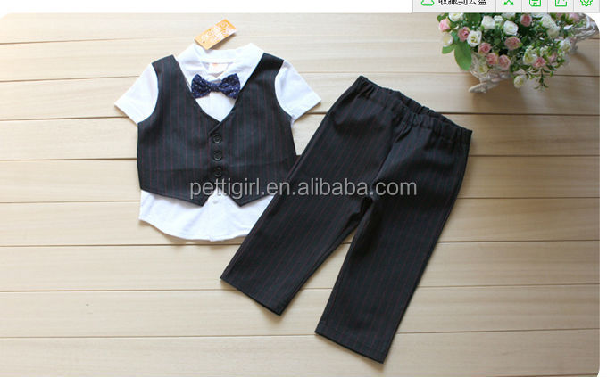 New Designer Boys Gentleman Clothing Set Children Cotton Suits Kids Used Clothes Free shipping CS41223-3