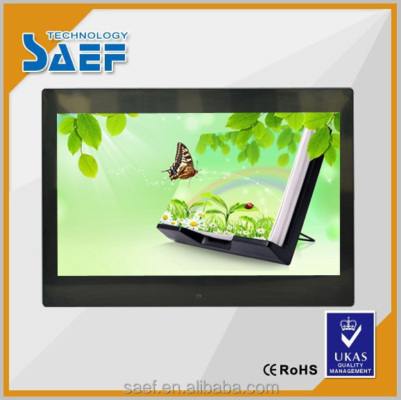 "HD 13.3"" inch taxi lcd monitor video player 16:9 1280x800 with wall mount and Remote Controller"