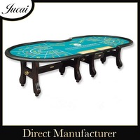 Stable wooden table top poker tables