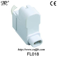 Plastic fluorescent lamp socket