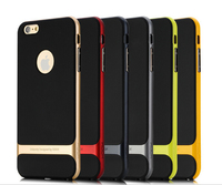 Rock Shockproof Combo TPU PC 2 in 1 Armor Case Cover For iPhone 6s Cell Phone