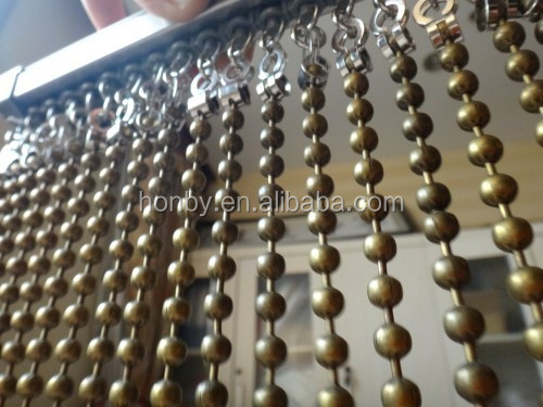 Custom Made Colored Metal Bead Ball Chain Link Curtain
