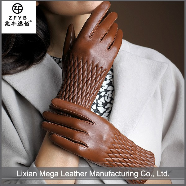 China wholesale high quality fashion sex lady long leather opera gloves with fu