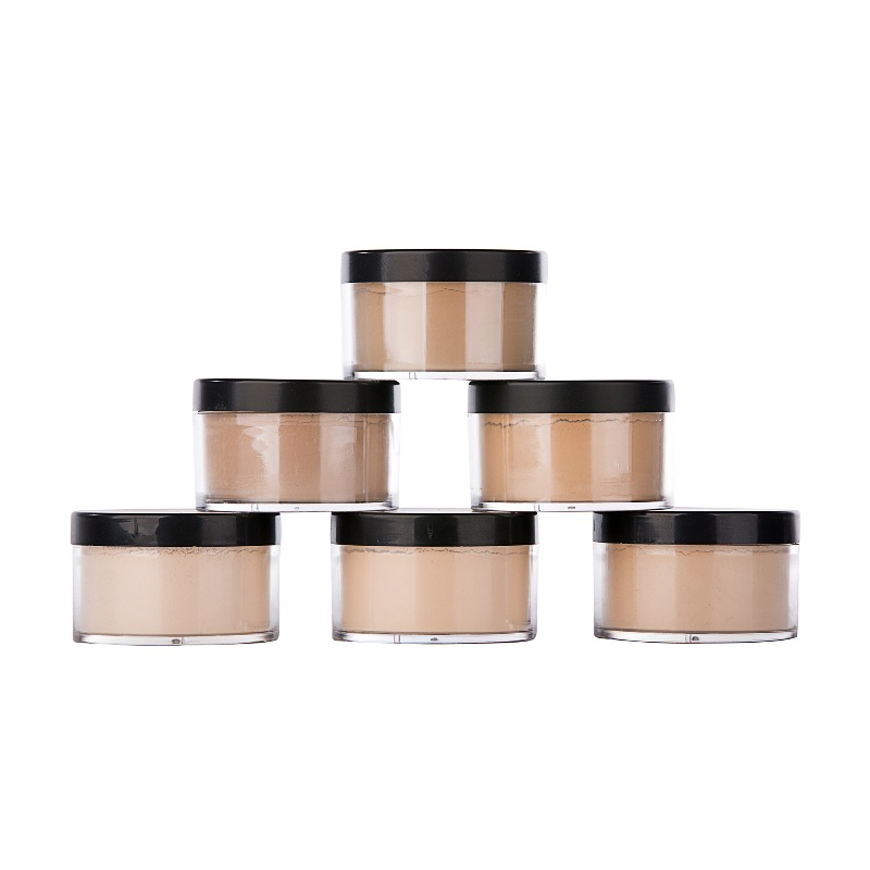 Private logo jar oem 6 color loose powder foundation <strong>face</strong> make up contour loose powder