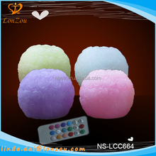 Decorative candles wholesale beautiful paraffin wax wedding rose ball candle