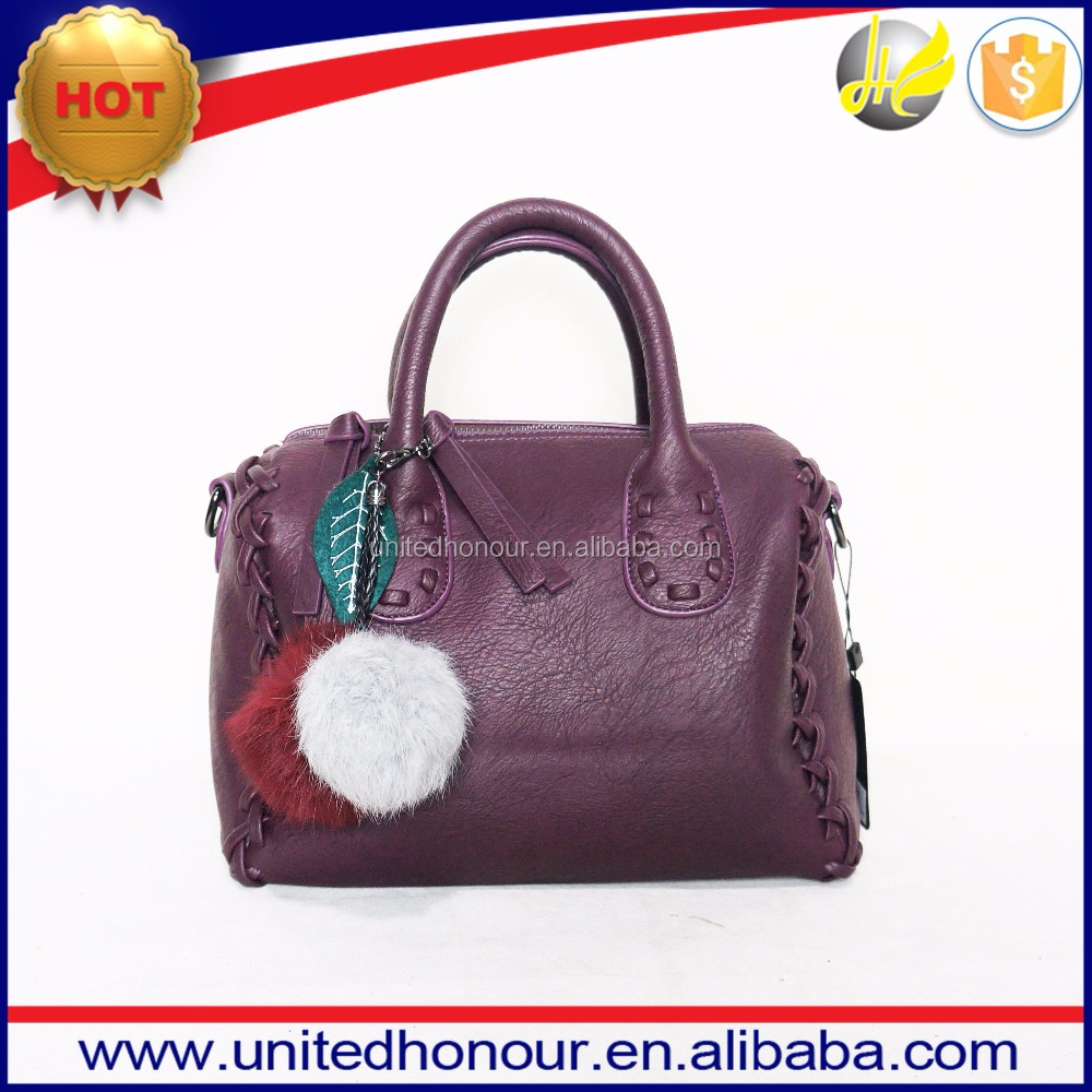 China supplier ladies PU leather tote bags,woman braid embroidery fashion handbags 2017