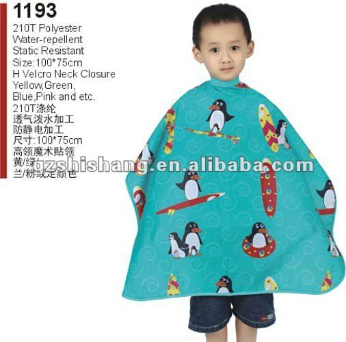Children barber cape 210T polyester high density top quality