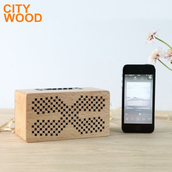 wood rectangular blue tooth speaker with TF card function