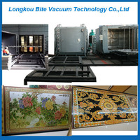 gilded polished tile ceramic coating machine / gold and silver color mosaic tile reflective tile coating machine