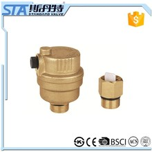 ART.5054 High Technology Best Quality Cheap Price Forged CW617n Material Automatic Brass Air Vent Valve With Natural Brass Color