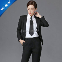 New design slim fit black women coat suit ladies office girls suit styles ladies office work uniform
