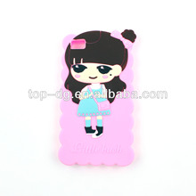 beautiful girl sharp silicone mobile phone cover,3d mobile phone cover for iphone /samsung