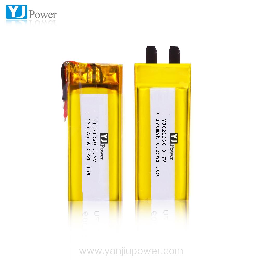 High Safety 621230 3.7v 170mah Li polymer Battery for sex toys